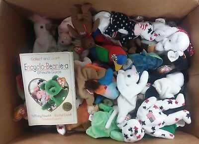 73 Assorted Beanie Babies Collection w/ Encyclo-Beanie-a Ultimate Guide Book