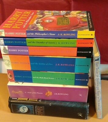 COMPLETE FULL SET OF 7 HARRY POTTER BOOKS COLLECTION + Beedle Of The Bard