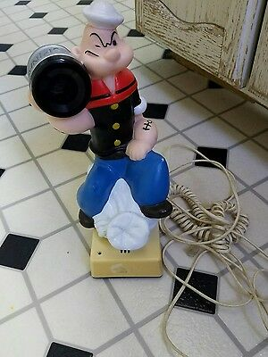 Popeye Collectibles Telephone Push Button Vintage 1982 KFS the Sailor Man WORKS