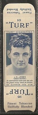 Carreras-Uncut Single Turf Slide-Olympics-#30- Water Polo - J S Jones