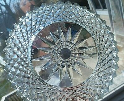 "Vintage 9"" ARCOROC FRANCE 4 Glass Heavy Salad  Punch Bowl diamond starburst"
