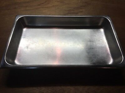 """Full Size 2 1/2"""" Deep Stainless Steel Hotel Food Pan for 8 Qt. Chafing Dishes"""