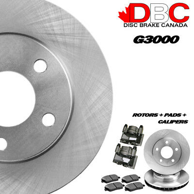 DBC BR33112-CAL G3000 Brake Rotors and Semi-Metallic Brake Pads with Brake Calip