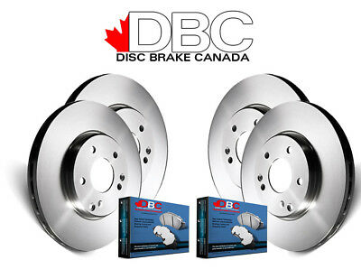 DBC BR33112-K G3000 Brake Rotors and Semi-Metallic Brake Pads - Front and Rear