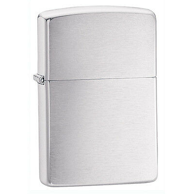 Zippo Brushed Chrome Windroof Lighter Model 200 Lifetime Guarantee NEW L@@K