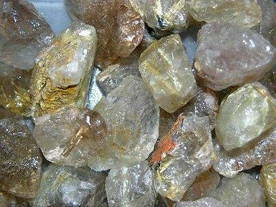 Rutilated quartz all natural mine rough gold silver rutile Brazil 1/4 pound lot