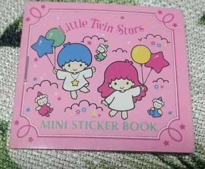 1995 Sanrio LITTLE TWIN STARS Sticker Book Mini Sticker Book Complete