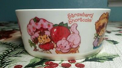 Vintage Strawberry shortcake plastic cereal bowl made in USA read description