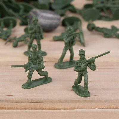 100pcs/Pack Military Plastic Toy Soldiers Army Men Figures 12 Poses Gift FK