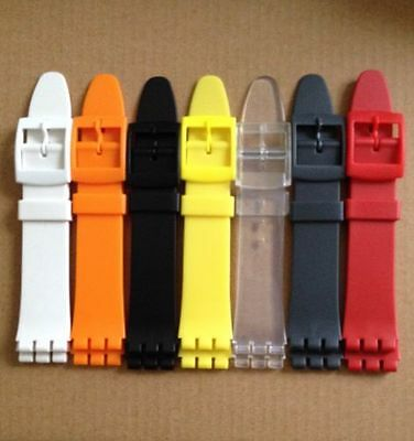 Swatch 17mm (20mm) Replacement Resin Watch Strap Free P&P