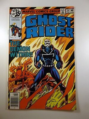 """Ghost Rider #34 """"The Demon Within!"""" W/Johnny Blaze!! VF-NM Condition!!"""