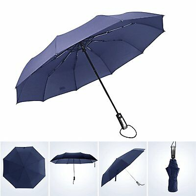 60MPH Windproof Travel Umbrella - Auto Open and Close Totes Wind Resistand with