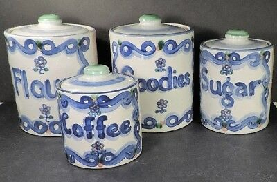 M. A. HADLEY (M A HADLEY)  set of 4 CANISTERS W/ LIDS  absolutely MINT