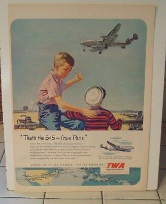 1951 Collectibles Twa Trans World Airlines Print Ad