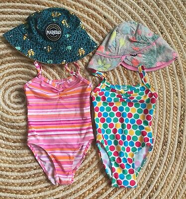 Baby Girl Bulk Lot Swimmers Swimsuit Summer Fashion Hat Bonds Mambo Size 0 6-12m