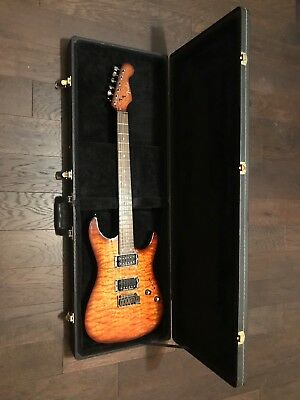 Fender Showmaster HH Amber Quilted Maple Top QMT Seymour Duncan