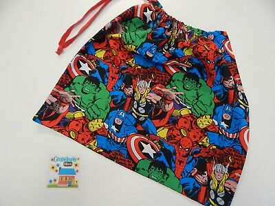 Marvel Avengers Bright Colours Library Bag - Accessory Drawstring Tote Swimming