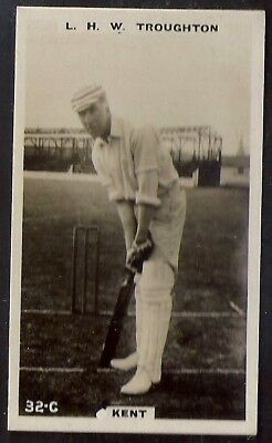 PHILLIPS-CRICKET ERS BROWN BACK F192-#032c- KENT - TROUGHTON