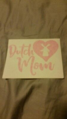 "Dutch Bros Coffee Mother's Day DUTCH MOM Sticker Decal 4"" May Special Edition"