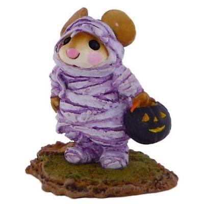 THE MUMMY by Wee Forest Folk, WFF# M-194, Purple Mummy Mouse