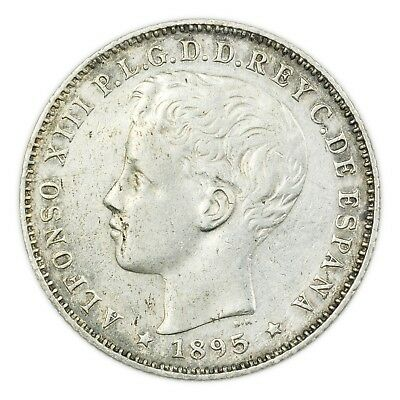 Puerto Rico KM#22 1895 20 Centavos, Alfonso XIII, Boy King [3524.0124]