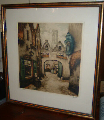 "French Art Prints, Early, Antique, Pair 19"" x 21"" Good condition"