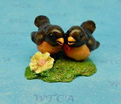 TWO ROBINS by Wee Forest Folk, A-15zL, Folktoberfest Event Special