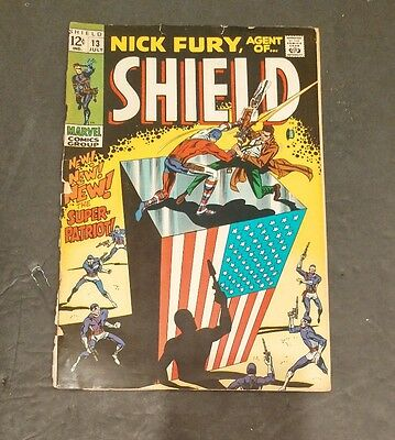 NICK FURY AGENT OF SHIELD # 13 (july 1969 MARVEL)
