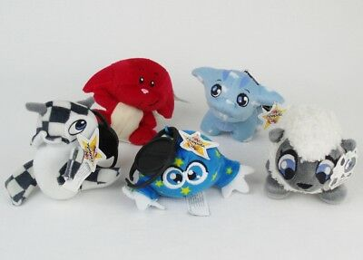 McDonalds NEOPETS Plush LOT Cloud Poogle RED KACHEEK Flotsam KIKO + BaBaa