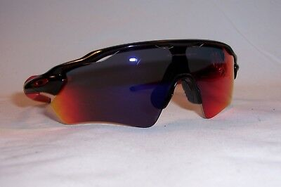 New Oakley Sunglasses RADAR EV PATH OO9208-21 BLACK POSITIVE RED mirror 9208 57de7791151a