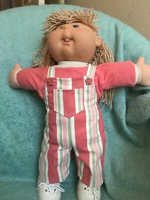 "Striped overalls and T shirt fit 16-17"" CPK--CLOTHES ONLY"