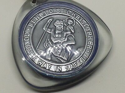 Vintage America-Canadian Grand Lodge AF & AM Masonic/ St. Christopher Hey Chain