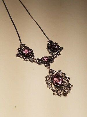 Antique Victorian Era Genuine Amethyst Necklace (Fantastic Condition)