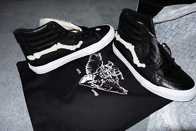 f0438ab78f BLENDS X VANS Vault Sk8 HI Reissue Zip LX Black White Pony Size 9.5 ...