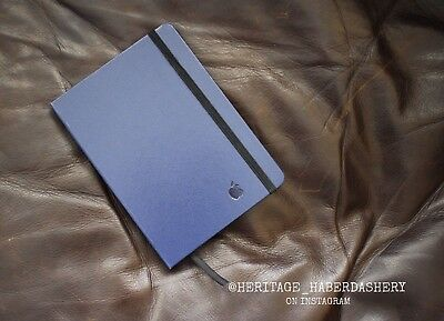 NEW Navy 'Apple' Branded Leather Bound Notebook Journal Moleskine RARE SOLD OUT
