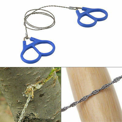 Hiking Camping Stainless Steel Wire Saw Emergency Travel Survival Gear F7