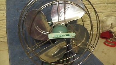 Vintage AC Gilbert Polar Cub oscillating electric fan very good working cond.