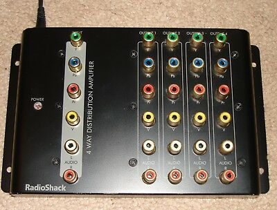 4-Way Component RGB Audio/Video Distribution Amplifier - RCA Jack