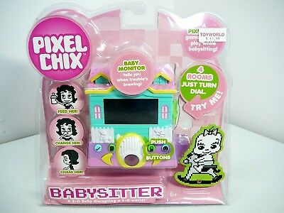 Vintage Pixel Chix Baby Sitter Electronic Hand Held Game New In Box Rare