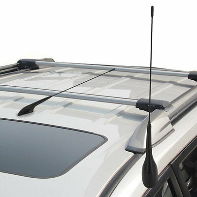 Auto Car Bus Top Roof Mount AM FM Radio Antenna Aerial Base Kit Black FK