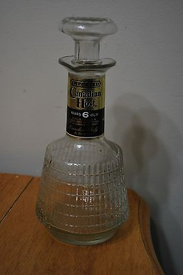 Imported Canadian Host Whiskey Decanter/bottle - EMPTY 750ML