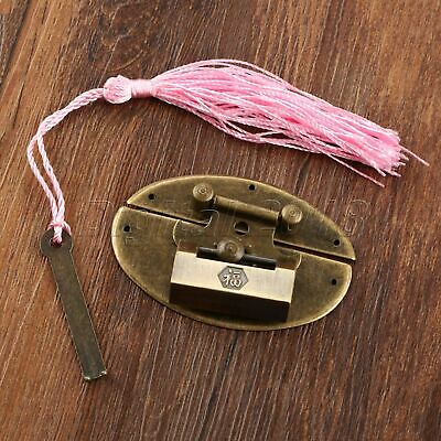 Chinese Style Vintage Decor Trunk Padlock Lock Key & Latch Hasps Clasp Latches