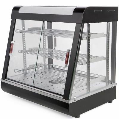 """27"""" Food court restaurant Heated Food pizza Display Warmer Glass Cabinet Case"""