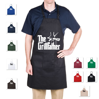 New The Grillfather Adjustable Neck Bib Apron Waiter Chef Godfather Parody Grill