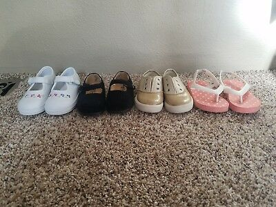 Lot Of 4 pairs Of Toddler Girl Shoes Infant Size 5 6 7