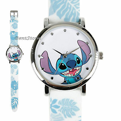 Disney Lilo And Stitch Floral Rubber Band Strap Watch New In Collectors Gift Tin