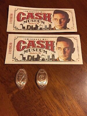 The Johnny Cash Museum souvenir coins and Tickets