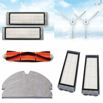 2 Side Brushes + 2 Filters Tool Kit For Xiaomi Robot Roborock S50 Vacuum Cleaner