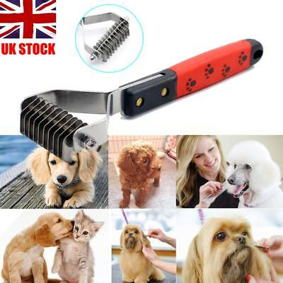Professional Pet Grooming Undercoat Rake Comb Dematting Tool Dog Cat Brush UK