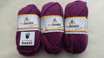 my boshi Wolle (Merino) Nr.3 - brombeere 3 Kn.a50gr.+1 Label